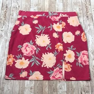 MISSGUIDED | Pink Floral Mini Skirt